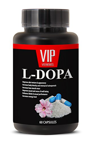 L-Dopa (99% Extract) 350mg - Mucuna Pruriens Extract Vegetarian Formula (1 bottle 60 (Natural Energy Enhancing Serum)