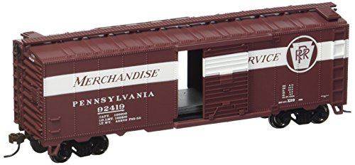 Bachmann Trains Pennsylvania Railroad Merchandise Service 40' Box Car-Ho Scale (Scale Pennsylvania Railroad)