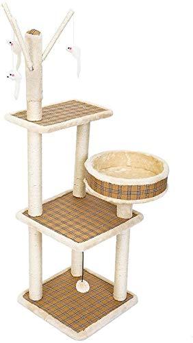 FTFDTMY Katzenkletterrahmen im Loft-Stil, Rattan Mehrschichtiges Katzenhaus Sisal Grab Board Pet Shop Großer Kratzbaum…