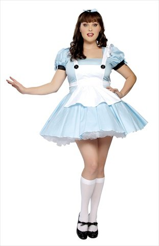 White Queen Costume From Alice In Wonderland (Alice in Wonderland Adult Costume - X-Large)