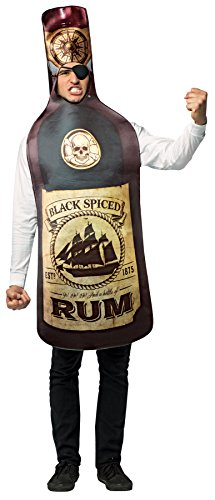 UHC Get Real Rum Bottle Outfit Funny Theme Party Fancy Dress Halloween Costume, OS (Real Superhero Costume)