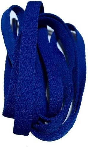 TMYQM ワイドスニーカースポーツシューズフラット靴ひも靴ひもの8ミリメートル24色80センチメートル/ 100センチメートル/ 120センチメートル/ 140センチメートル/ 160センチメートル (Color : No 18 royal blue, Size : 140CM)