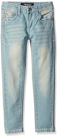 Freestyle Revolution Little Girls Skinny Studded Jean, Light Blue Quartz Wash, 6 - Studded Revolution