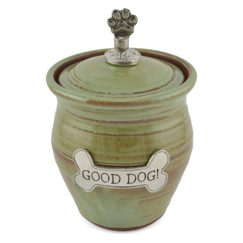Oregon Stoneware Studio Small Dog Treat Jar, Pistachio