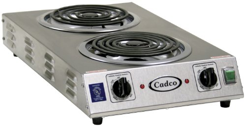 - Cadco CDR-2TFB Space Saver Double 220-Volt Hot Plate
