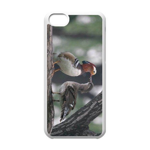 SYYCH Phone case Of Love Birds -Mandarin Duck Cover Case For Iphone 5C