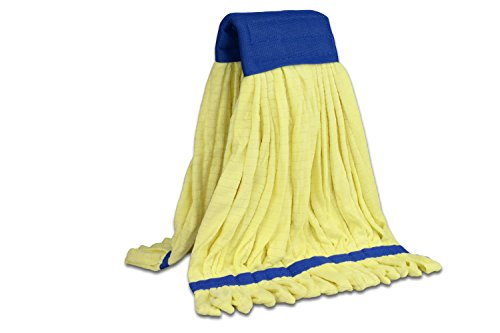 Microfiber Wet Mop Head Replacement | Cleans 3x Faster Than Conventional Cotton Mops | For Commercial And Industrial Use | Large Size (Yellow) by Microfiber Wholesale