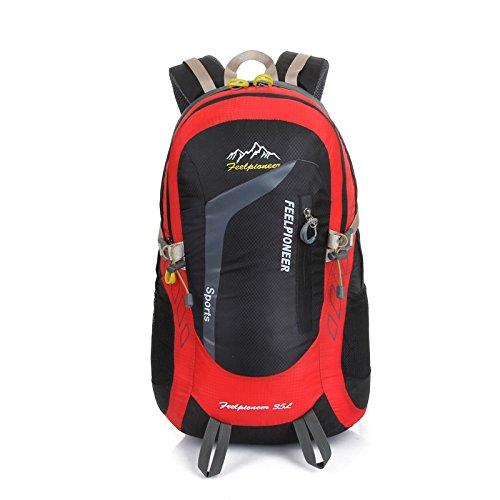 Ho Chun Sport Rucksack Outdoor Migration Stufensteigen Taschen Rucksack Freizeit Sport Rucksack Reiten Dual Umhängetaschen, Schwarz
