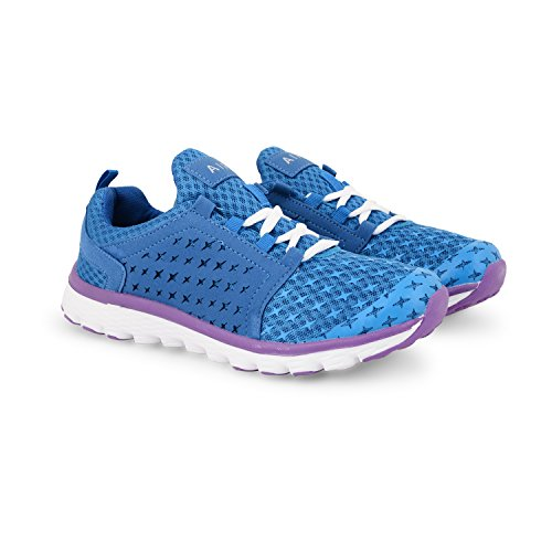 Comfort Trainers Sneakers Lace Womens Tech Shoes Training Blue Purple UK Sports Up Running Ladies Air Sizes pztwvx4