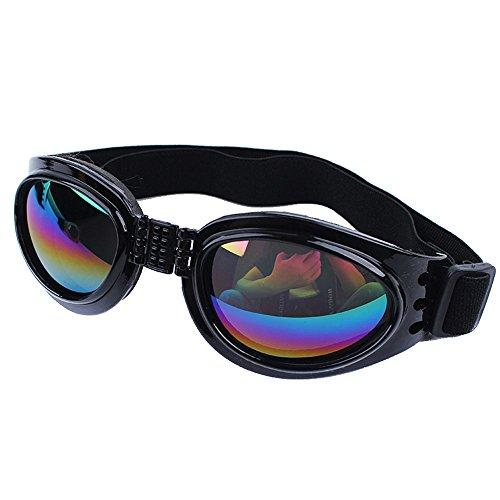Dog Sunglasses Large UV, KROMI Pet Dog Goggles Eye Wear Protection Foldable Adjustable Big Pet Sunglasses for Dogs, - Word Two Or One Sunglasses Is