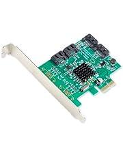 Syba Contrôleur SATA III 4 ports PCI-e 2.0 x1 6Gbps avec équerres Low Profile