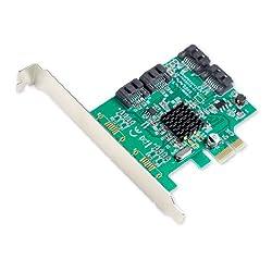 Io Crest 4 Port Sata Iii Pci-e 2.0 X1 Controller Card Marvell Non-raid With Low Profile Bracket Si-pex40064