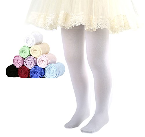 Large Product Image of CHUNG Toddler Little Girls 3 Pack Footed Dress Tights Ballet Dance Stretchy 3-14Y