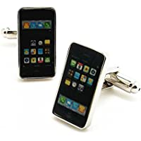 Covink Smart Phone Rhodium Plated Cufflinks with Gift Box