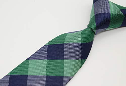 Geotae Zerun Corbata de seda para hombre, diseño de cuadros, color ...