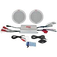 Pyle PLMRKT2A 2-Channel Waterproof MP3/iPod Amplified 6.5-Inch Marine Speaker System