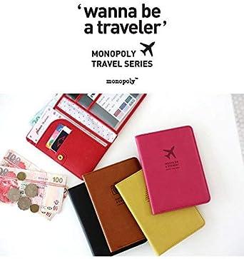Monopoly Mini Journey No Skimming Ver.2 Funda de Pasaporte, 16 cm, Verde Oliva: Amazon.es: Equipaje