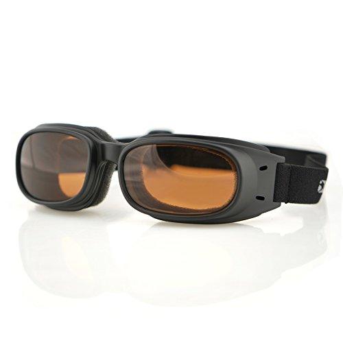 Bobster Piston Goggles, Black Frame/Amber - Rectangular Goggles