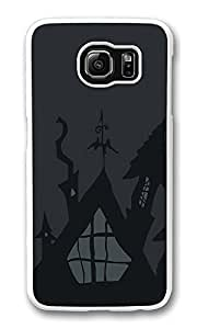 VUTTOO Rugged Samsung Galaxy S6 Case, Dark Haunted House Halloween White Plastic Hard Case Back Cover for Samsung Galaxy S6