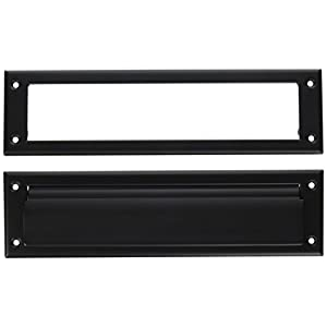 Baldwin 0012190 Letter Box Plate, Black
