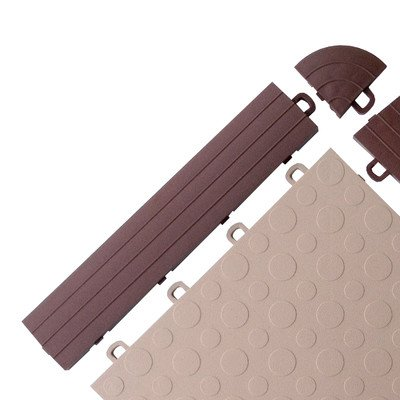 Brown Block Tile R0US5212A Ramp Edges W/o Loops PP Edges Pattern