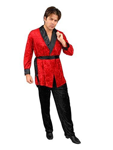 Charades Men's Smoking Jacket, red Large ()