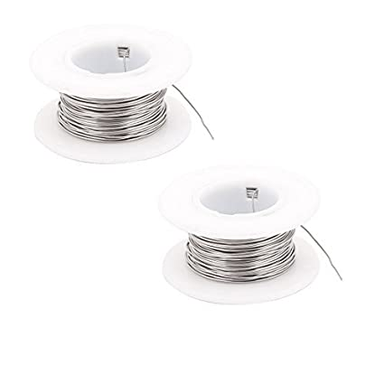 eDealMax 2PCS 10M 0.5mm 24AWG Cable Nickle calentador de alambre para Elementos de calentamiento - - Amazon.com