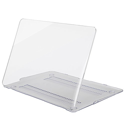 MOSISO Plastic Hard Shell Case Cover Compatible MacBook Air 13 Inch (Models: A1369 & A1466), Crystal Clear
