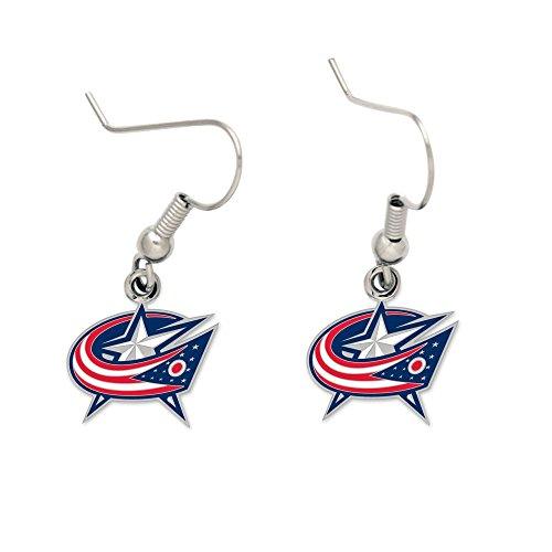 - WinCraft NHL Columbus Blue Jackets Earrings Jewelry Card