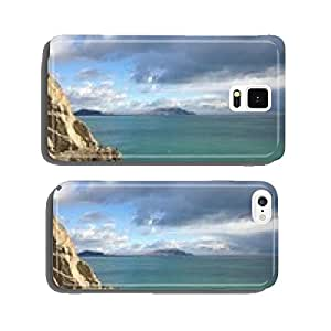 mountain, stone beach in the sea lengthwise cell phone cover case Samsung S5