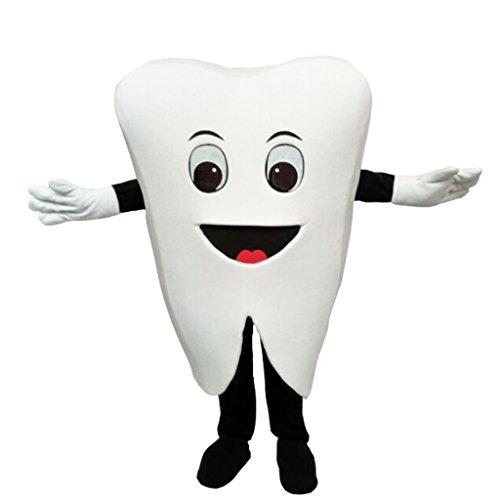 CosplayDiy Unisex Lovely Tooth Mascot Costume Cartoon Mascot 153-157
