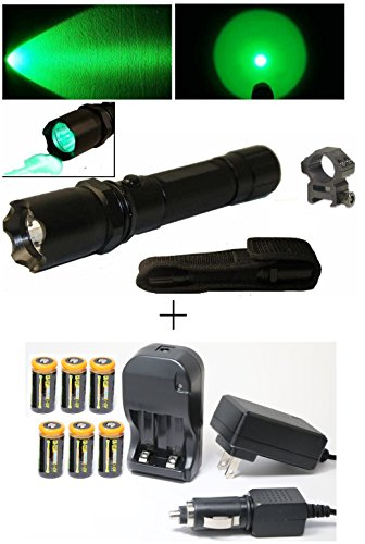 Push Button Tail Cap (Ultimate Arms Gear CREE LED Hunting Night Vision Preserving Green Light Tactical Flashlight With Strobe Feature L.E.D Shotgun Rifle Paintball Airsoft 7/8