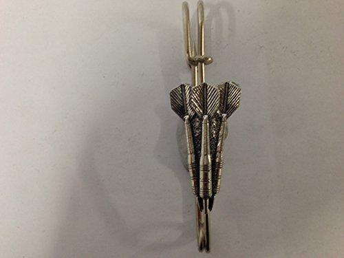 S13Kilt trois Fléchettes écharpe ou Broche en étain emblème 6,3cm fait à la main à Sheffield