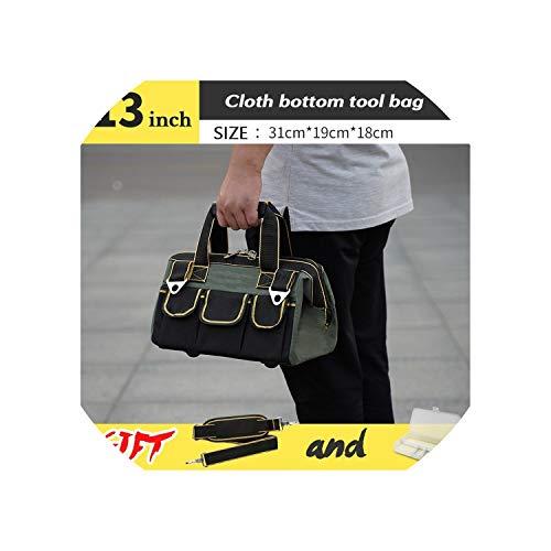 Tool Bag Electrician Tools Carpentry Hardware Repair Portable Storage Organizers Box Work Spanner Toolbox Kitbag Big Toolkit,13Inch Cloth Bottom (Bag Laptop Ally)