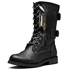 ***Tired of having to carry a bag just to keep a few small items with you when you're shopping or exploring the great outdoors?The DailyShoes Women's Military Combat Boots with Pocket will let you travel lighter and have you loo...