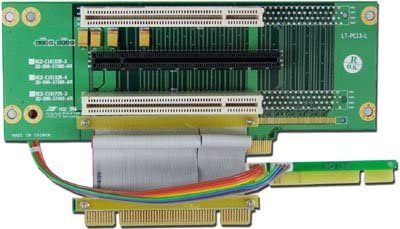 PCI 32bit PCI Express 16x Left Angle Riser Card w//Aluminum Shield Ribbon PCI-32/_Express16 + 2X PLINKUSA RACKBUY 2U Rackmount Chassis