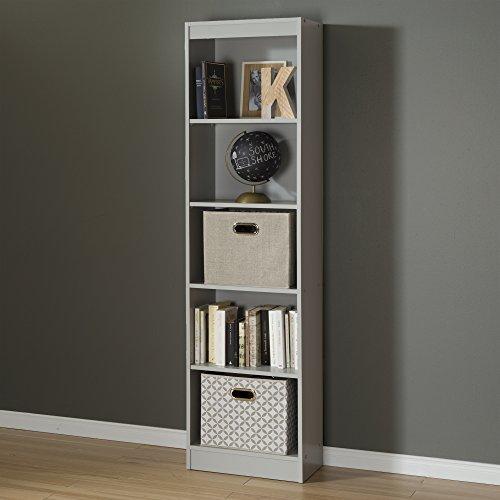 South Shore 5 Shelf Narrow Bookcase