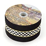 MacKenzie-Childs Courtly Check 3'' Wired Ribbon