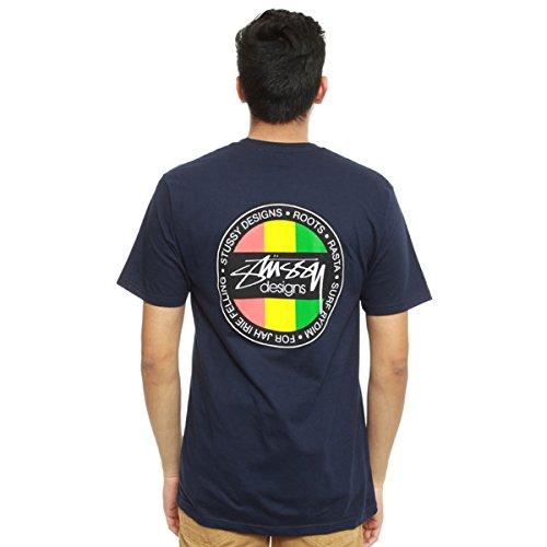 Stussy Mens Designs Dot Short-Sleeve Shirt X-Large Navy