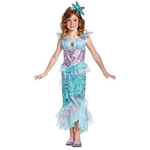 [Disguise Girl's Ariel Mermaid Costume with Headband, M (7-8)] (Mermaid Fairy Costumes)