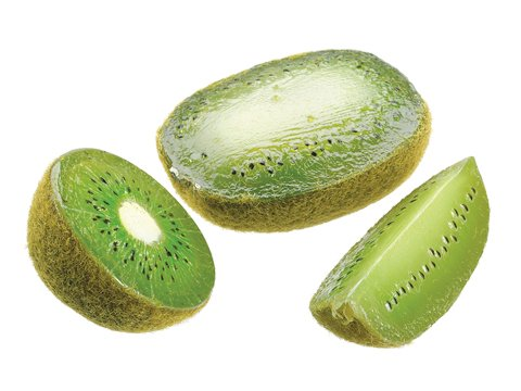 4''Hx4''W Kiwi Fruit Wedges w/Header Card (3 ea./bag) Green (Pack of 24) by Silk Decor