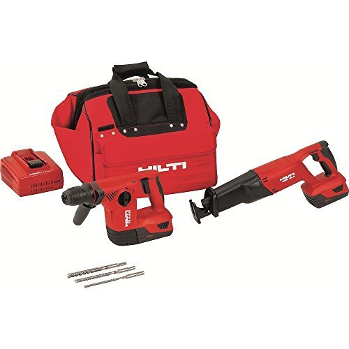 Hilti 3482514 18-Volt Lithium-Ion Cordless Rotary Hammer Drill/Reciprocating Saw Combo Kit