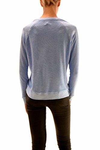 Sundry Mujer Heart Long Sleeve 62-273A70 Sweatshirt Azul