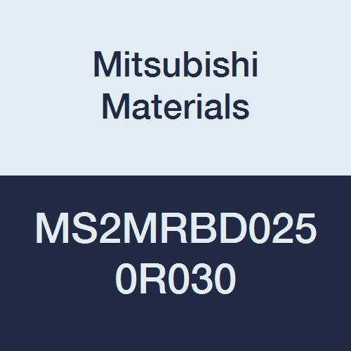 0.3 mm Corner Radius 2.5 mm Cutting Dia Medium Flute Mitsubishi Materials MS2MRBD0250R030 MS2MRB Series Carbide Mstar Corner Radius End Mill 2 Flutes Radius Shape