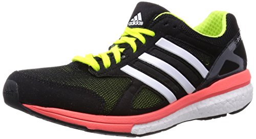 adidas Mens Adizero Tempo Boost 7 Running Sneaker Shoe, Midnight Grey/Solar Red/Raw Ochre, 11.5