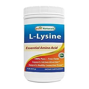 Best Naturals Lysine Powder, 1 Pound 100% Pure