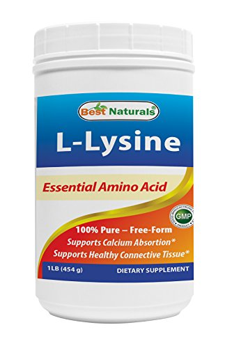 Best Naturals Lysine Powder, 1 Pound 100% Pure