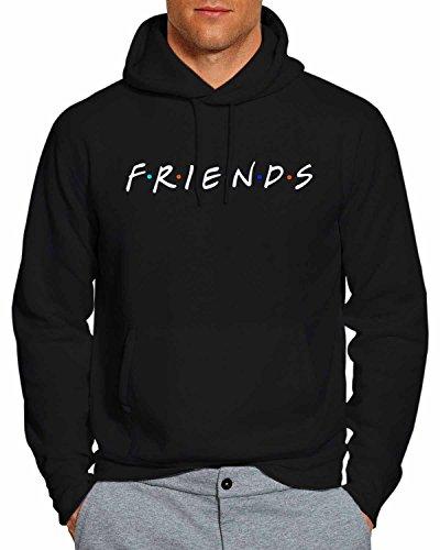 Friends Tv Show Hoodie Pullover Unisex Sweatshirt - Black - Large FW