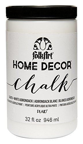 FolkArt 34878 Home Decor Chalk Furniture & Craft Paint in Assorted Colors, 32 ounce, White Adirondack from FolkArt