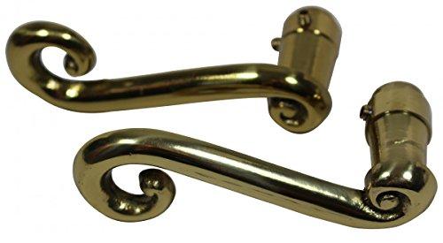 Door Levers Solid Brass RSF Swirl Handle Pair | Renovator